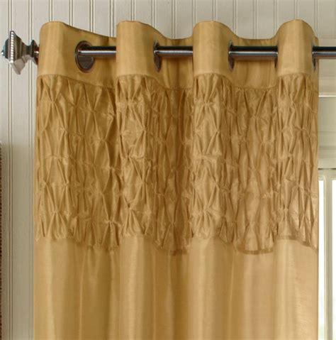 commonwealth emmanuel grommet top curtain panel gold