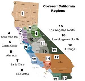 Covered California Region Map