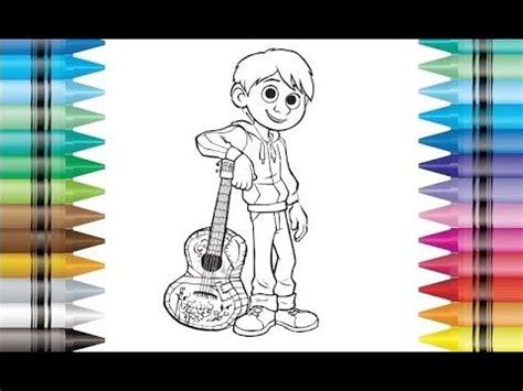 disney pixar  coco miguel coloring pages  kids