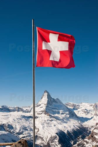 contemporary dinning rooms wey matterhorn with swiss flag zermatt switzerland