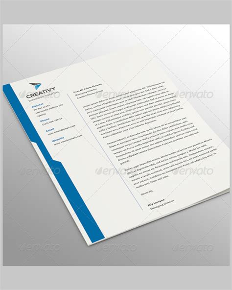 word letterhead templates  psd ai eps format