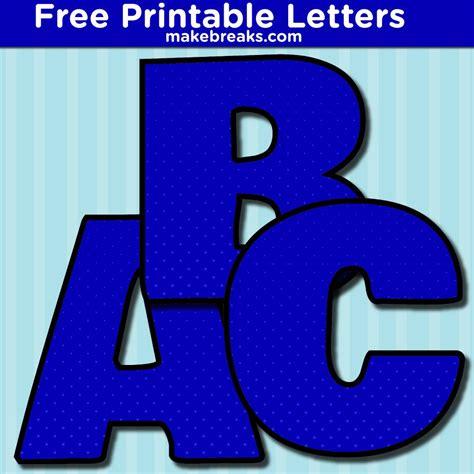 printable bold blue dot alphabet  breaks