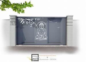 Portail Alu Coulissant : portail coulissant contemporain design ap39 jornalagora ~ Edinachiropracticcenter.com Idées de Décoration