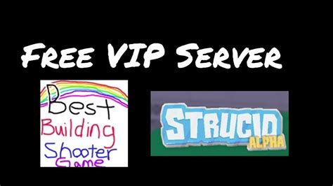 strucid vip server link youtube