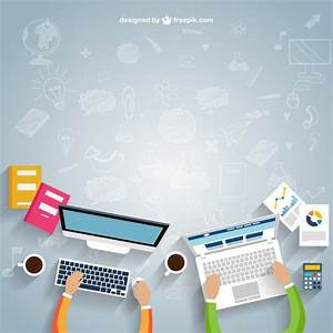 Workspace in cartoon style Vector | Free Download