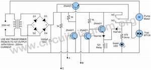 automatic water pump controller transistor based With led light simple circuit diagram fully stocked led lighting store