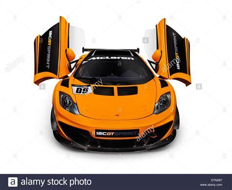 Orange 2018 Mclaren 12c Gt Sprint Supercar With Open