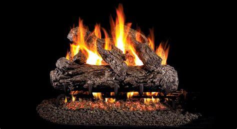 hrg  peterson real fyre rustic oak vented gas logs set