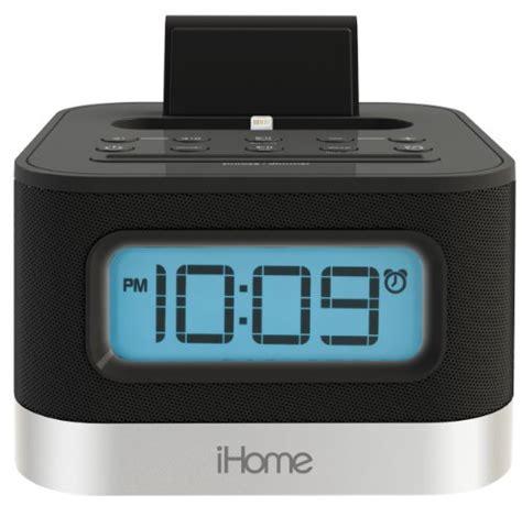 iphone clock radio ihome ipl8bn stereo fm clock radio with lightning dock for