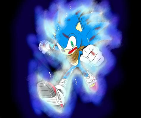 ultra instinct sonic by deaththeshadow on deviantart