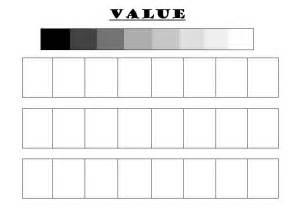 Art Worksheet Value Scales
