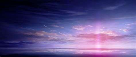 Anime Sky Wallpaper - anime scan landscape sky cloud beautiful light color
