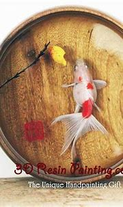 3D Fish Layered Resin Painting Process by Acrylic Paint ...