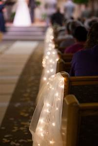 Tulle, And, String, Lights, Aisle, Decorations