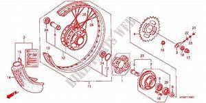 Rear Wheel For Honda Super Cub 90 Custom 2008   Honda