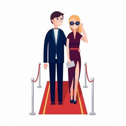Carpet Celebrities Vector Rich Walking Celebrity Clipart