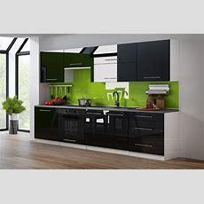 Kaufexpert  Küchenzeile Linda Schwarz Hochglanz 260 Cm