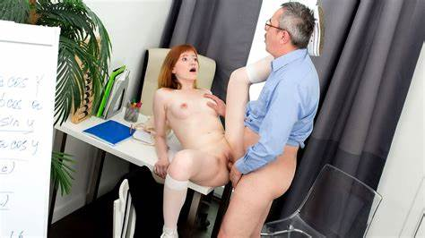 Diffident Math Teacher Fucking A Sweet Coed In The Classroom