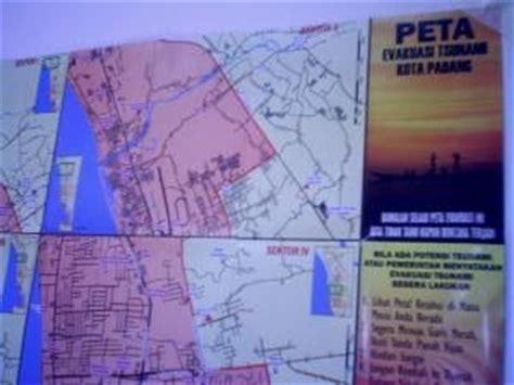 peta evakuasi tsunami gempa padang hari  berita lampung
