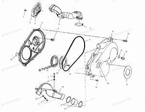 Polaris Atv 2003 Oem Parts Diagram For Clutch Cover   Fc