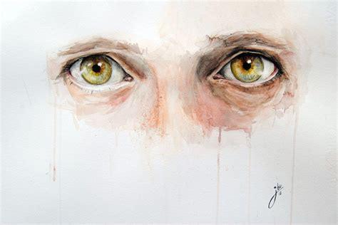 expressive watercolor eye paintings  jone bengoa