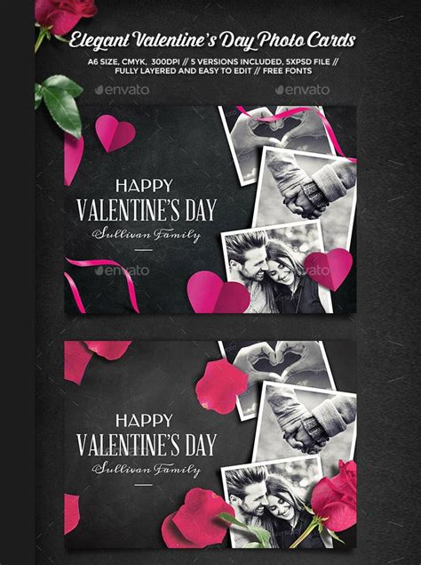 happy valentines day cards psd designs