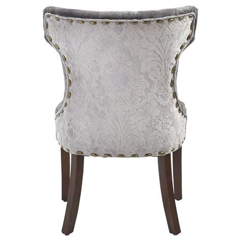 hourglass dining chair gold damask hourglass dining chair gray damask home