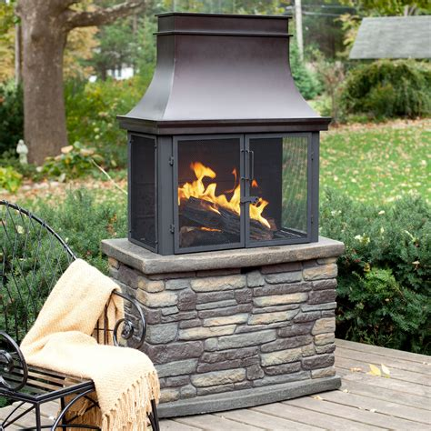 pictures of outdoor fireplaces bond wood burning outdoor fireplace at hayneedle