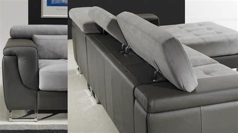 canape angle microfibre gris canape d angle cuir et tissu maison design modanes com