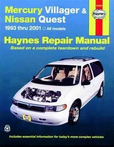 Mercury Villager Nissan Quest 1993 2001 Haynes Service