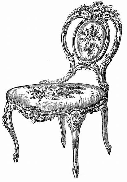 Chair Clip Chairs Clipart Fairy Graphics Antique