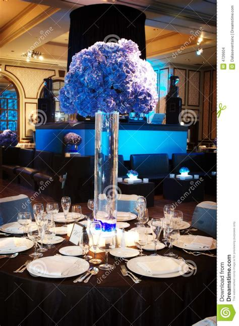 Table Setting For Wedding Reception Royalty Free Stock