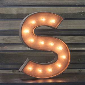 """Edison Marquee Letter - """"S"""" Town & Country Event Rentals"""