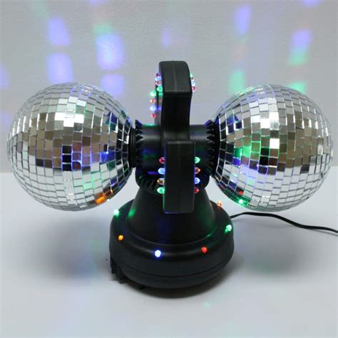 Twin  Mirror  Creative Motion Disco Ball Lamp With Built