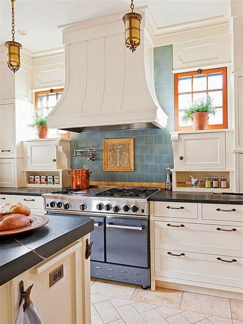 country kitchen tile ideas cottage kitchen inspiration cottages and blue tiles on 6159