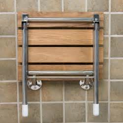 Folding Teak Shower Seat by Teak Folding Shower Seat With Legs Shower Seats