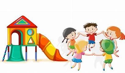 Cartoon Playing Play Park Children Clipart Child