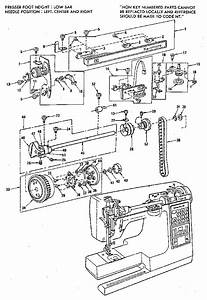 Thread Tension Assembly Diagram  U0026 Parts List For Model