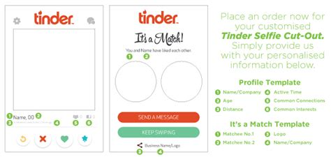 tinder profile template tinder selfie cut outs in 24 hours easy signs