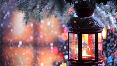 Christmas Holidays Torch Branch Candle Snow Winter