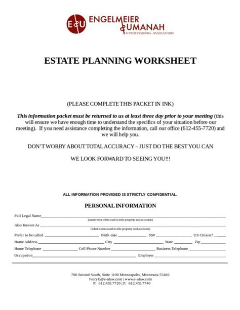 17+ Planning Worksheet Templates  Pdf, Word, Excel  Sample Templates
