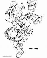 Coloring Scottish Scotland Coloriage Dance Enfants Monde Outline Colouring Sheets Highland Adult Digi Printable Children Adorable Template Ausmalen Around Crafts sketch template