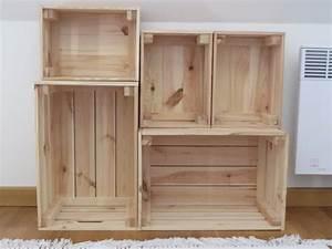 Ikea Caisse Bois : une biblioth que fabriqu e avec des caisses en bois joli ~ Melissatoandfro.com Idées de Décoration