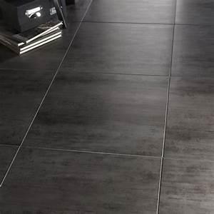 Carrelage Clipsable Leroy Merlin : carrelage sol et mur gris fonc effet b ton eiffel x cm leroy merlin ~ Carolinahurricanesstore.com Idées de Décoration