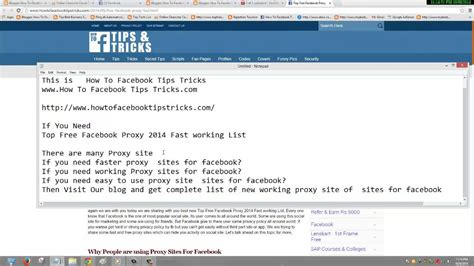 Top Free Facebook Proxy 2015 New Fast Working List