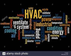 Hvac  Word Cloud Concept On Black Background Stock Photo