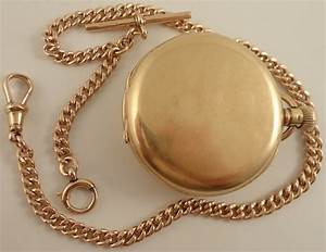 Antique 9ct rose gold half hunter pocket watch and 9ct ...