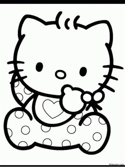 Kitty Hello Coloring Pages Sanrio Sheets Characters