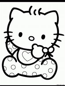 Hello Kitty Face Coloring Pages Of Picture To Color - AZ ...
