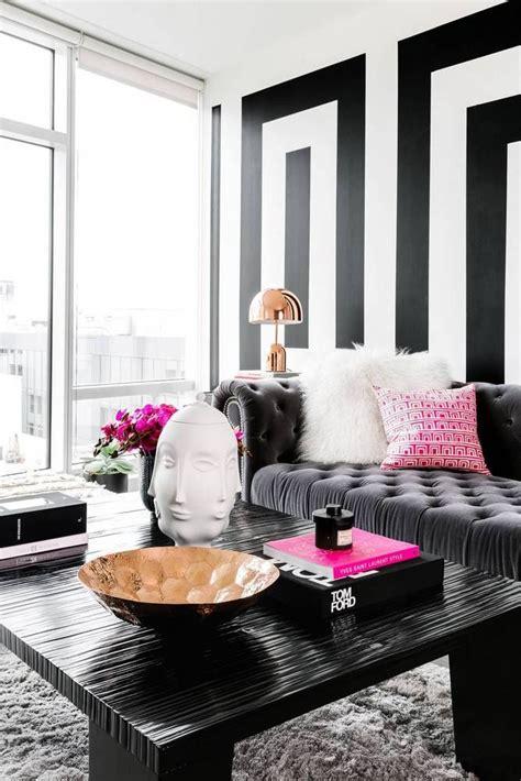 black  white modern home decor ideas living home